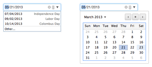 Google Chrome 27 datepicker