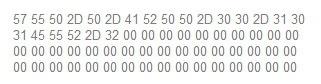 Hex-code die aan moet tonen dat Wii U gehackt is