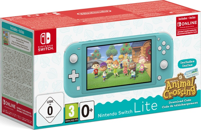 Nintendo Switch Lite Animal Crossing Edition Blauw