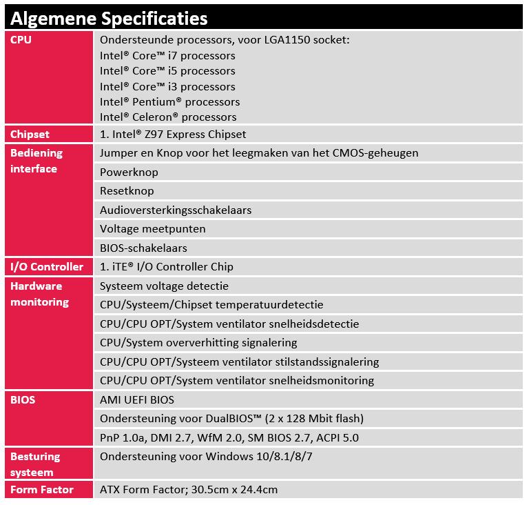 Algemene Specificatie