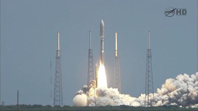 Lancering van ruimtesonde Juno aan boord van een Atlas V-raket