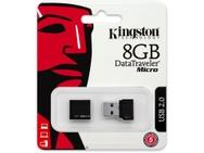 Kingston DataTraveler Micro USB 2.0 8GB Zwart
