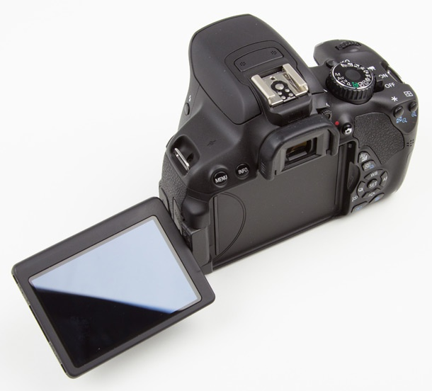 Canon EOS 650D lcd-module uitgeklapt