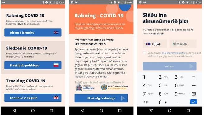 Rakning C-19, IJslandse corona-app