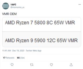 Ryzen 9 5900 en Ryzen 7 5800
