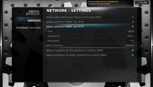 XBMC - Network Settings
