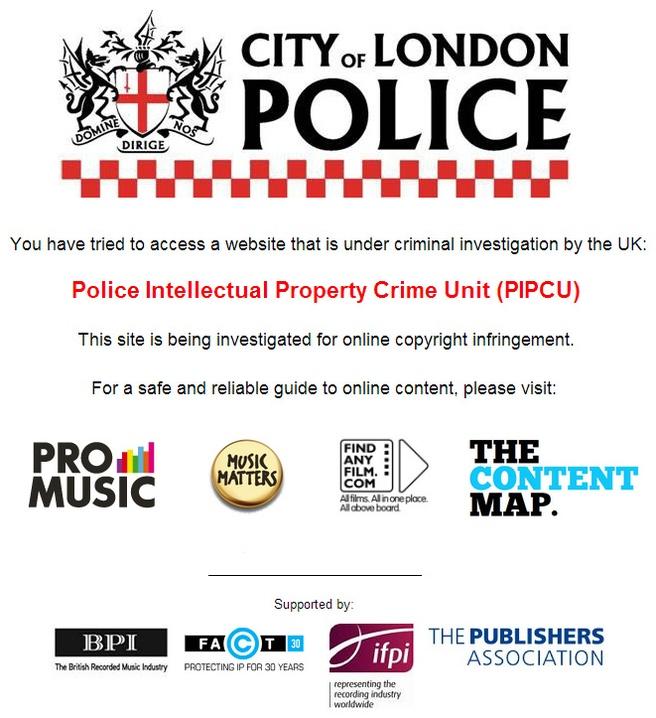 Waarschuwing van de Britse politie