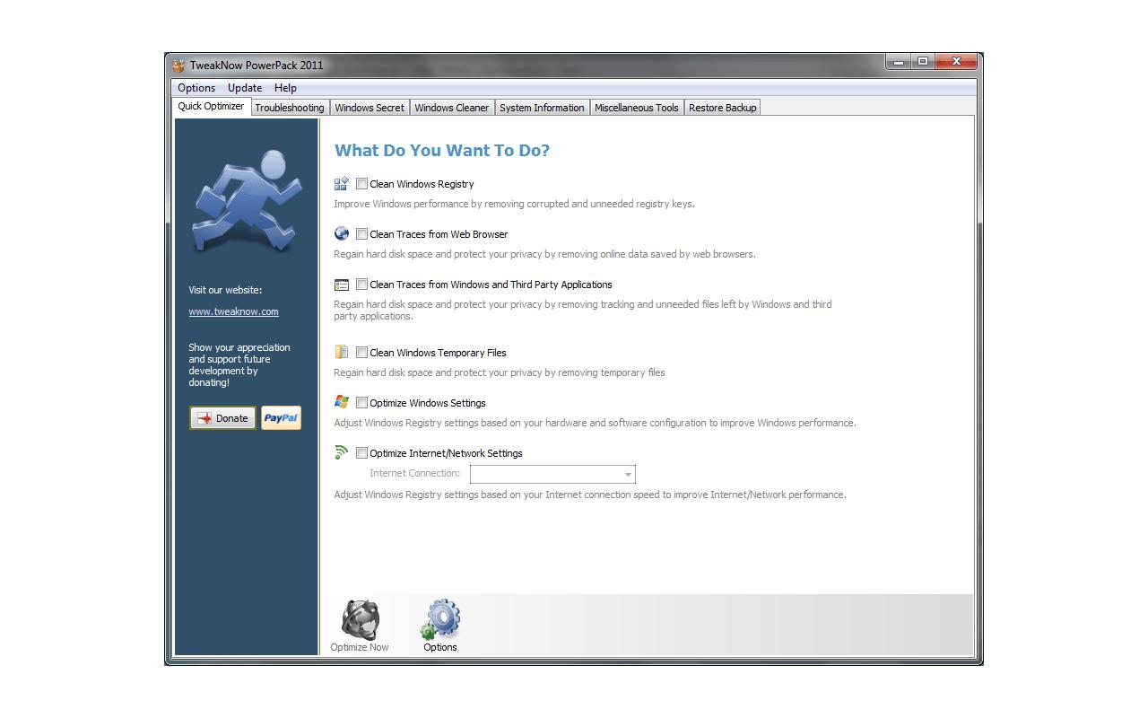 TweakNow PowerPack 2011 screenshot