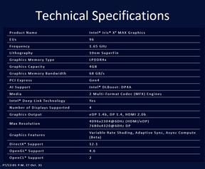 Intel Iris Xe Max reveal