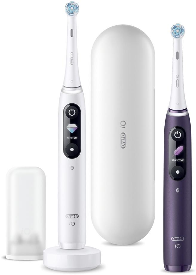 Oral-B iO - 8 - Elektrische Tandenborstels Wit En Paars, Duopack