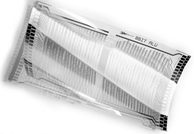 Plastic processor: 8bit alu