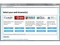 Browserkeuzescherm