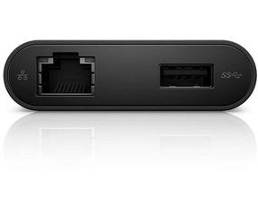 Dell DA200 - USB-adapter - USB-C naar HDMI / VGA / netwerk / USB -