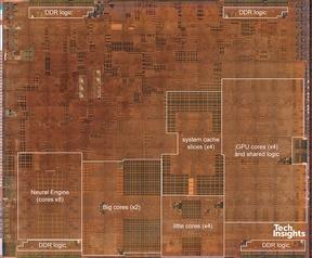 Die-shot Apple A12 Bionic