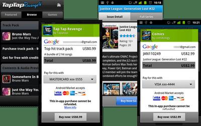 In-app-betalingen Android Market