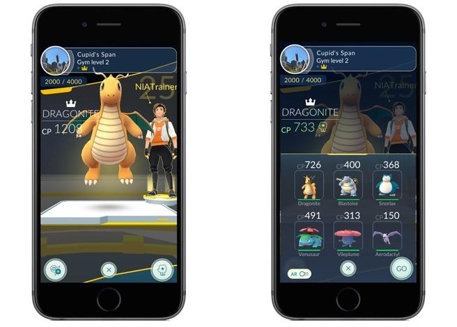 Pokémon Go-update past trainen van gyms aan