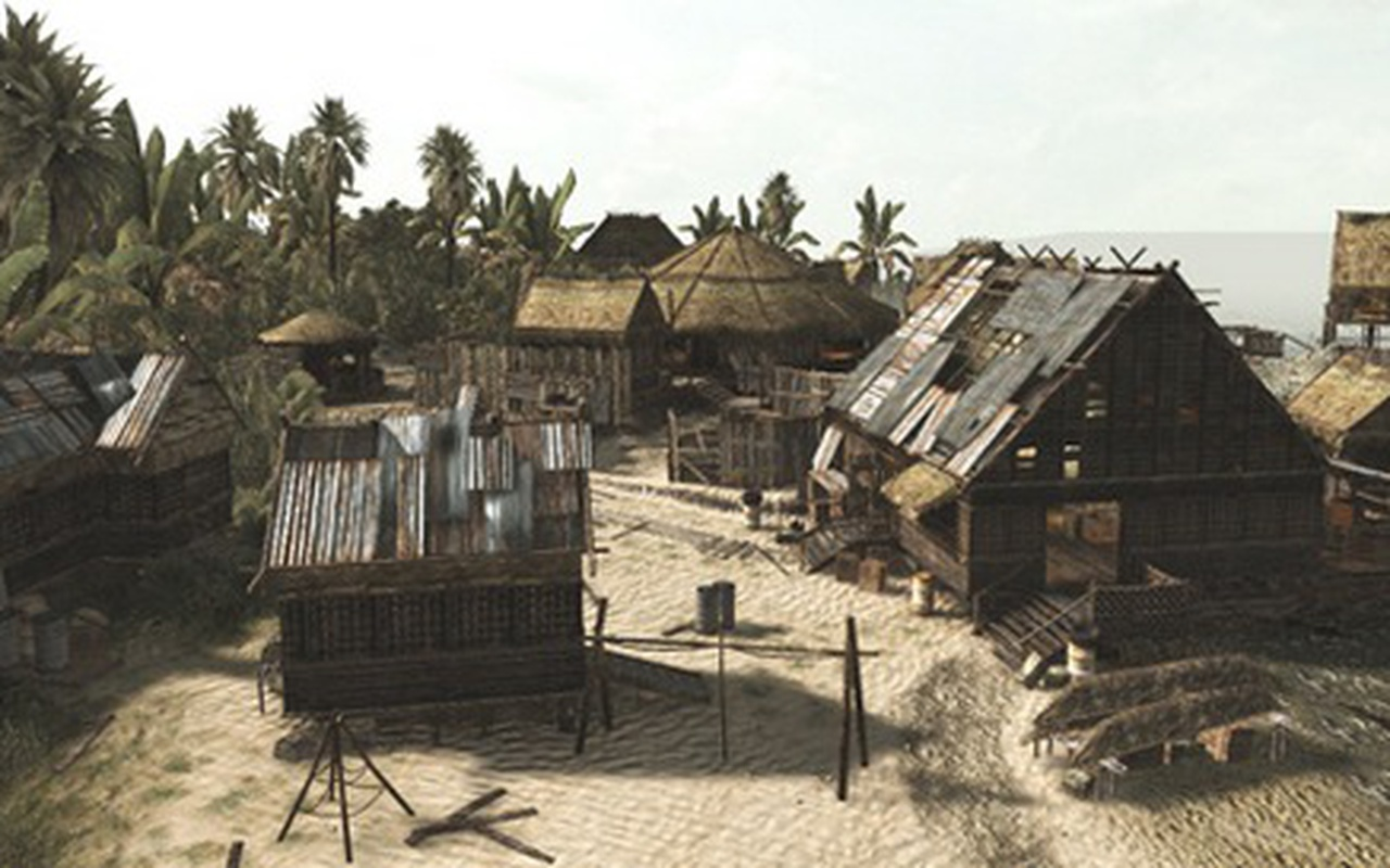 Call of Duty: World at War - 'The tide is out and the sun is high' map