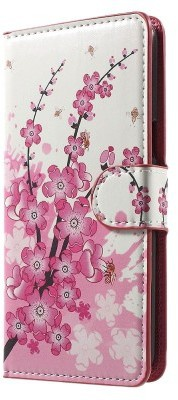 qMust LG G6 Wallet Case - hoesje met stand - Pink Blossom
