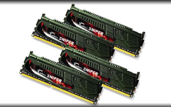 G.Skill Sniper G.Skill 32GB DDR3-2133. Intern geheugen: 32 GB, Intern geheugentype: DDR3, Kloksnelheid geheugen: 2133 MHz. Geheugen voltage: 1.5, 1.6 V. Hoogte: 40 mm