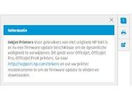 Melding HP voor firmware-update printers voor ondersteuning huismerkcartridges