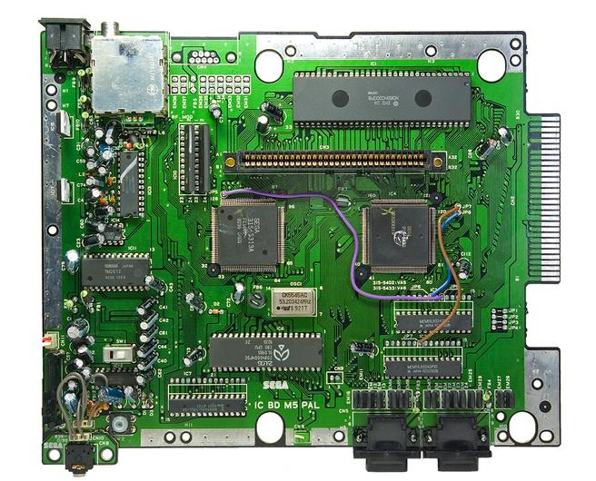 Sega Mega Drive moederbord