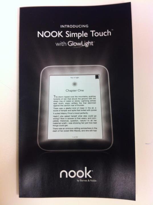 Nook Simple Touch met GlowLight