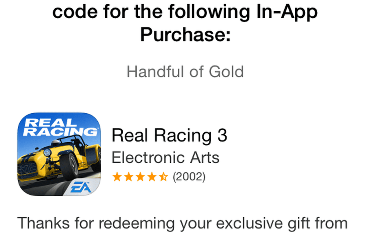 Promotiecodes Real Racing 3