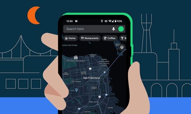 Google Maps donkere modus