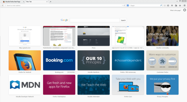 Firefox Booking.com