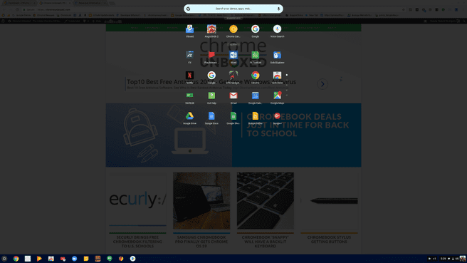 Chrome OS 61 launcher