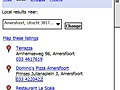 Google Local zoekresultaten dichtbij locatie