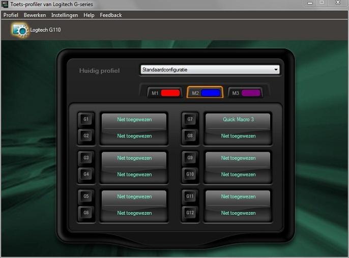 Logitech Macrotoetsen software