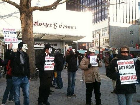 ACTA protest Rotterdam