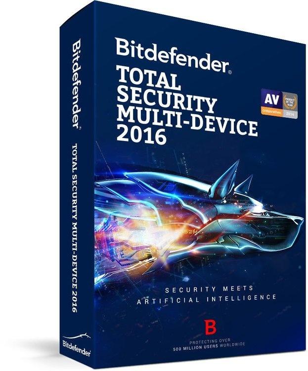 BitDefender Total Security 2016 Retail (2 Jaar / 5 Users)