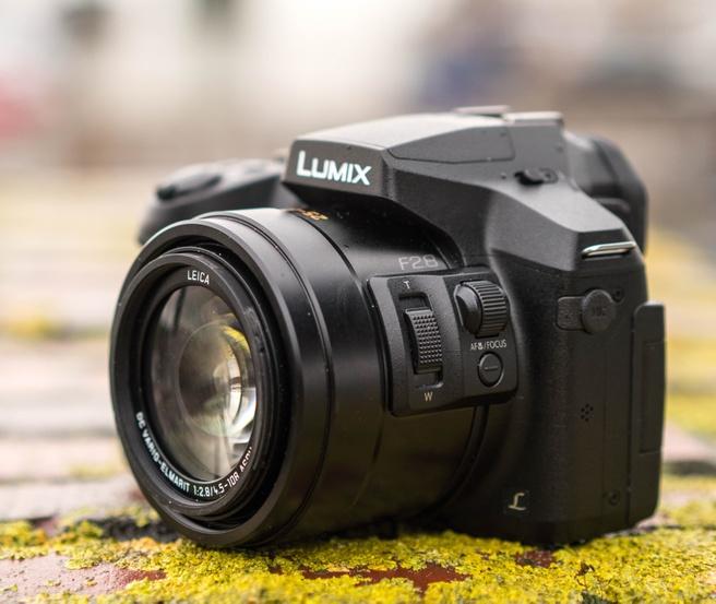 Panasonic FZ300 knoppen op de lens