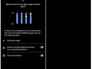Slaapgewoonten in Google Digitaal Welzijn. Bron: XDA-Developers