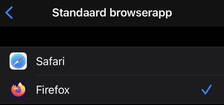 Standaardbrowser instellen in iOS 14