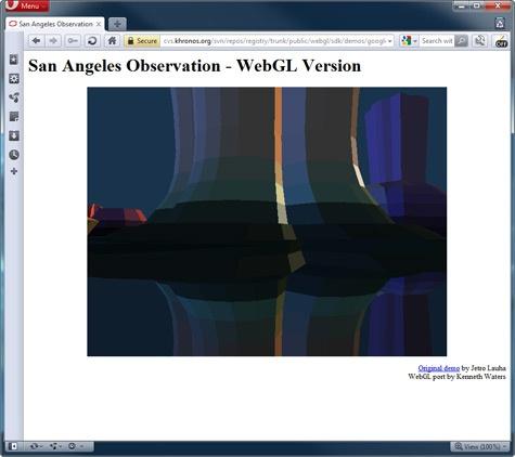 Opera 11.50 met WebGL-support