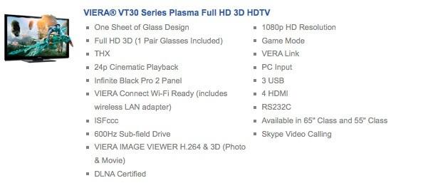 Panasonic VT30