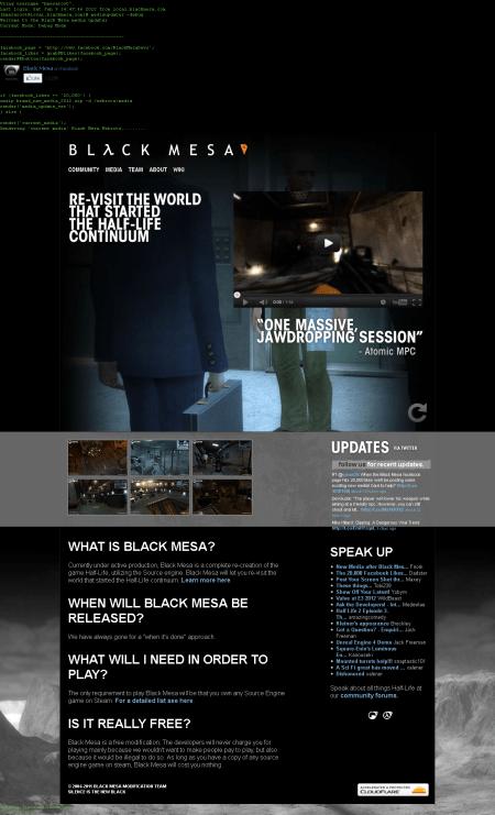 Black Mesa: Source website (10-06-2012)