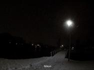 Sneeuw in de duisternis