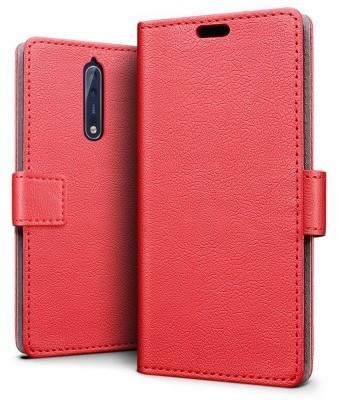 qMust Nokia 8 Wallet Hoesje Rood