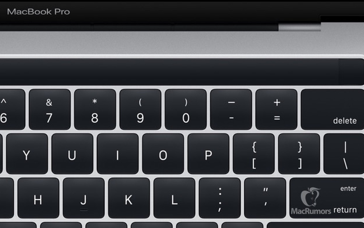 MacBook met oledstrip, afbeelding van Apple