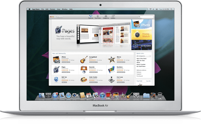 Apple App Store voor Mac OS X