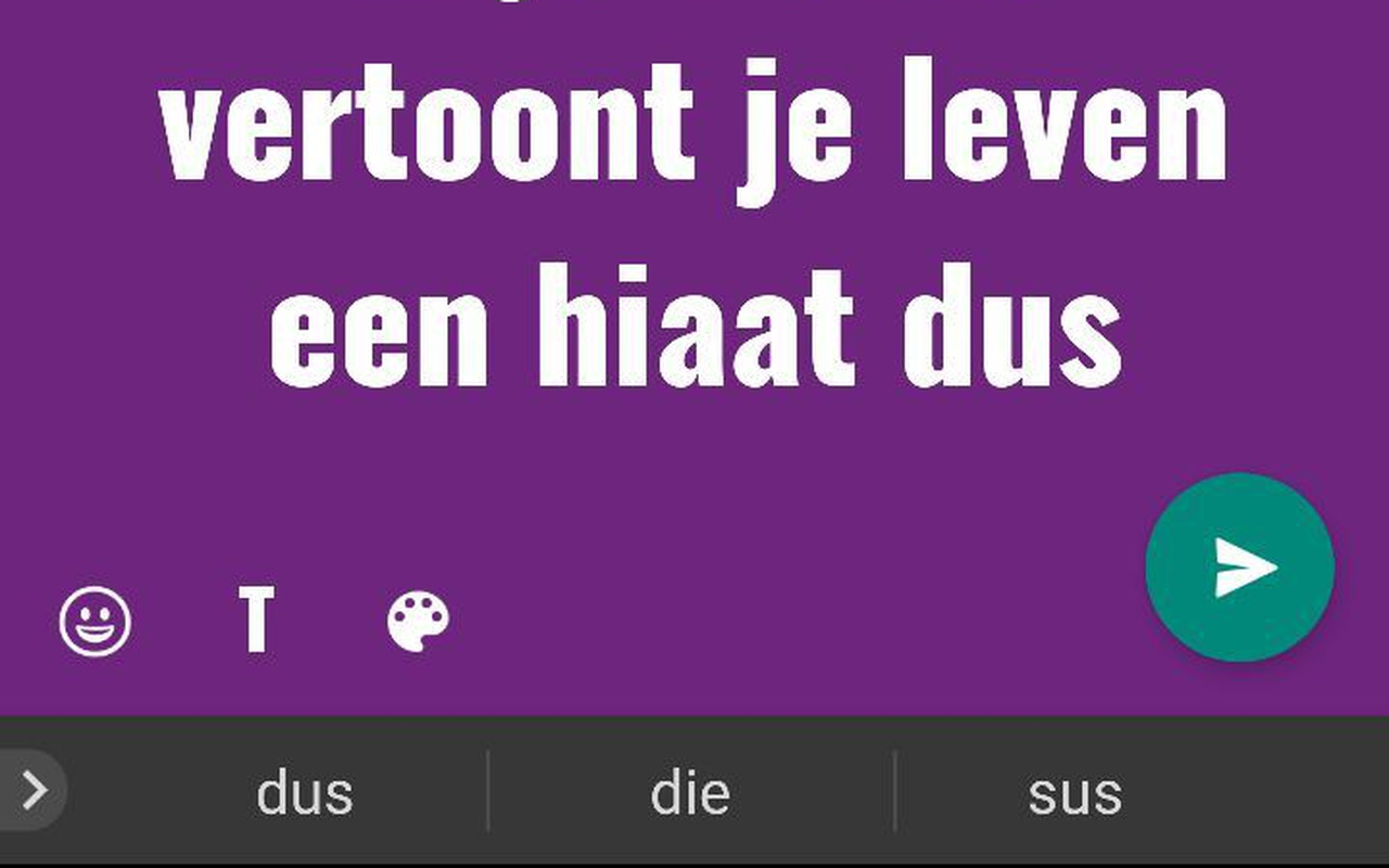 WhatsApp gekleurde statusupdates
