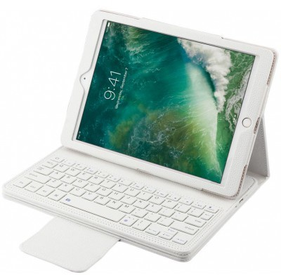 qMust Apple iPad 9.7 (2017) Bluetooth Keyboard Hoes wit