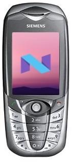 Oude Siemens-telefoon met Android Nougat