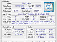Cpu-z i5-8600K