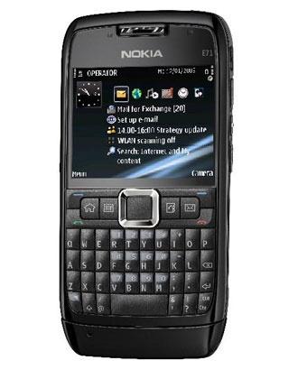Nokia E71  Zwart