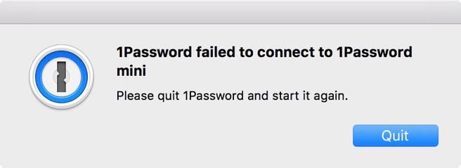 1password waarschuwing